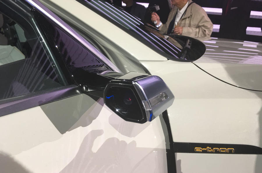 Audi E-Tron 2019 reveal digital wing mirrors