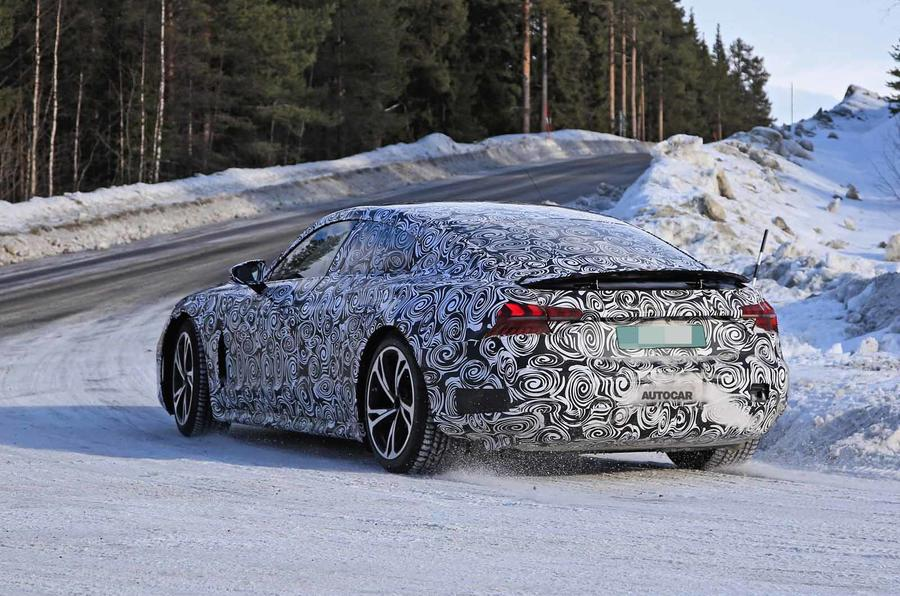 Audi E-Tron GT spyshots rear side