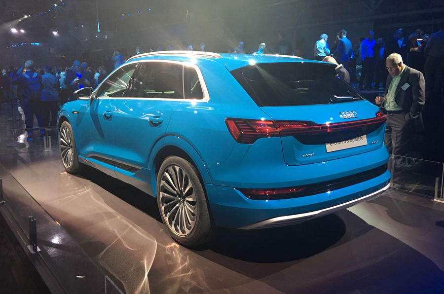 Audi E-tron 2019 official launch static rear right