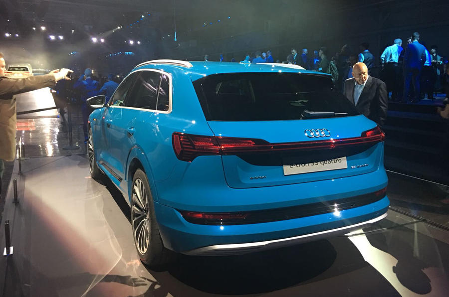 Audi E-tron 2019 official launch static rear