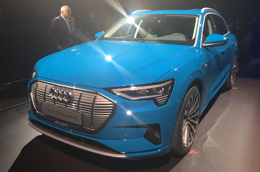 Audi E-tron 2019 official launch static static front right