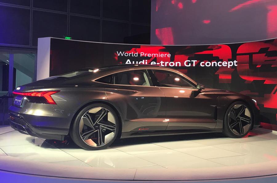 Auto E-tron GT concept official show debut - rear