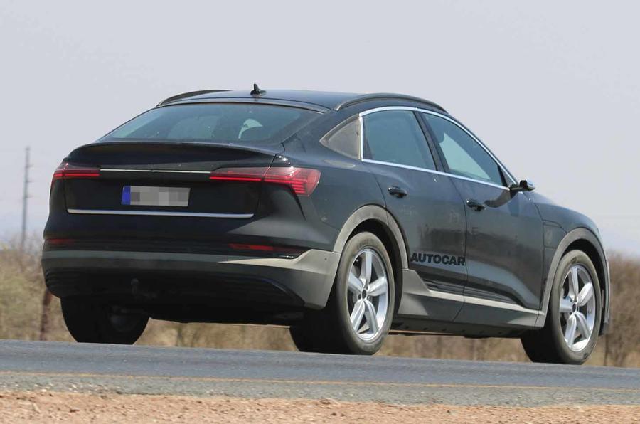 Audi e-tron Sportback spyshot rear