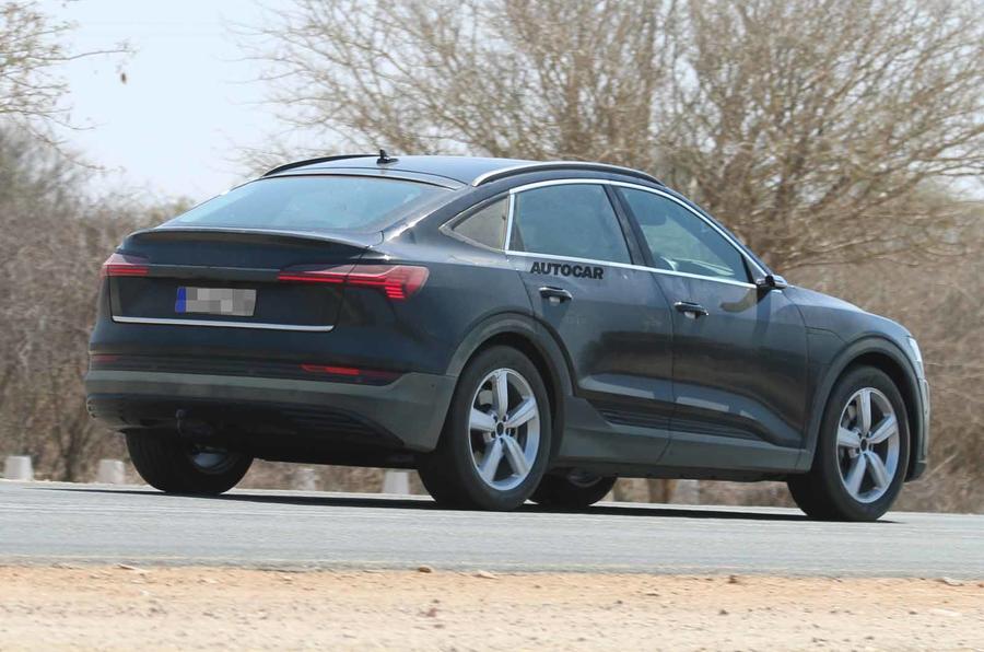Audi e-tron Sportback spyshot rear side