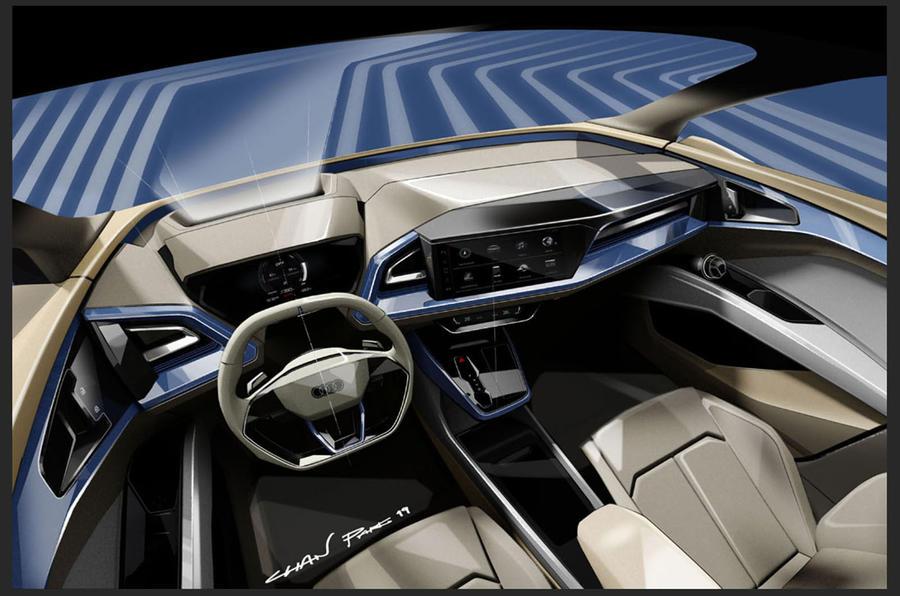 Audi Q4 e-tron sketches official - interior