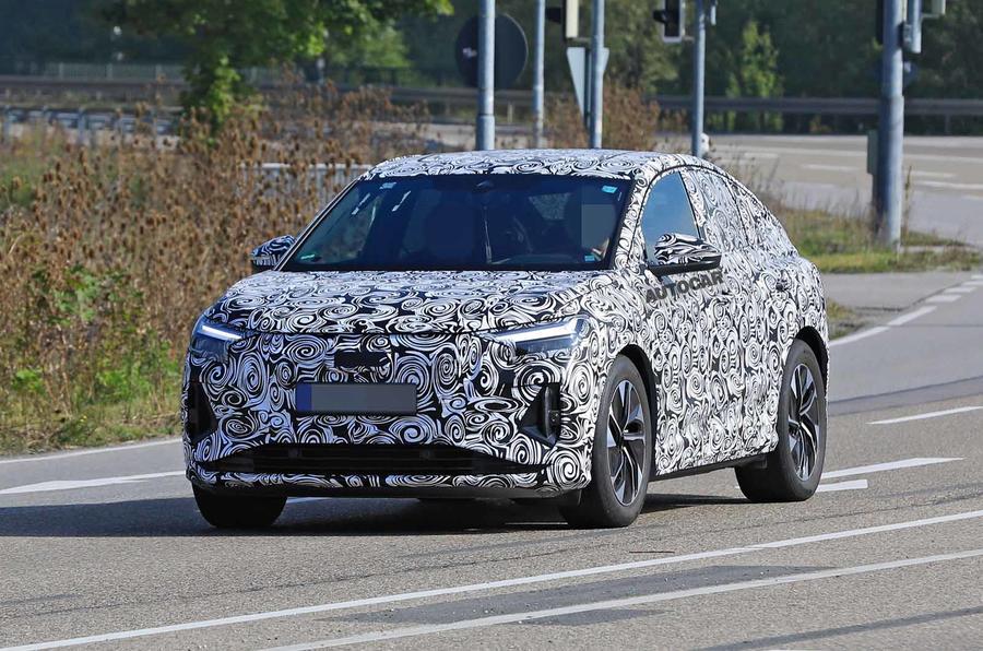 Audi Q4 E-tron Sportback spyshot front