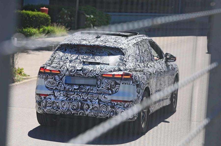 Audi Q4 E-tron Sportback spyshot rear