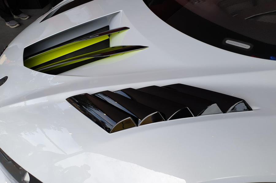 Audi R8 LMS GT2 - Goodwood reveal - bonnet vent