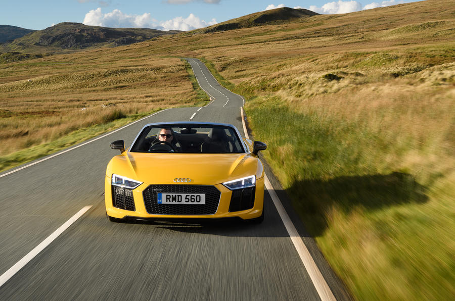 Audi R8 Spyder on the road