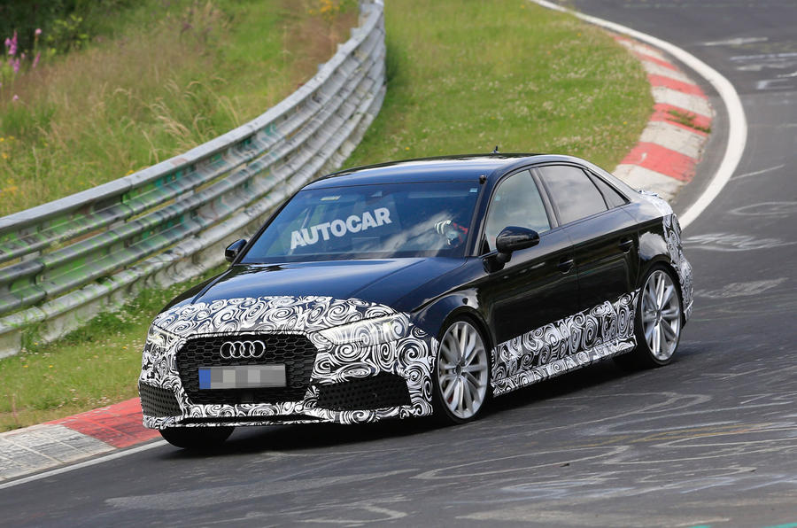2017 audi rs3 saloon spotted testing