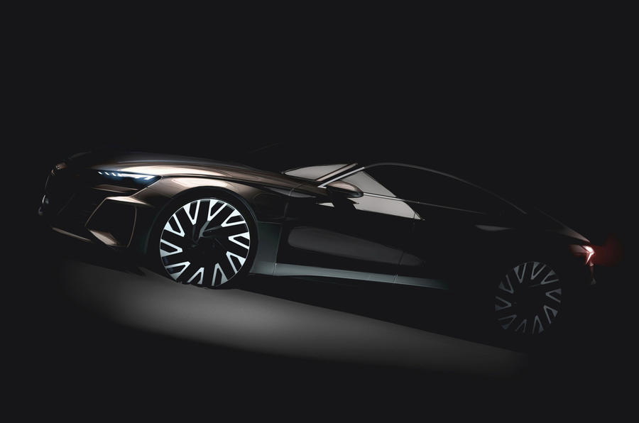 Audi e-tron GT teased as Tesla S rival