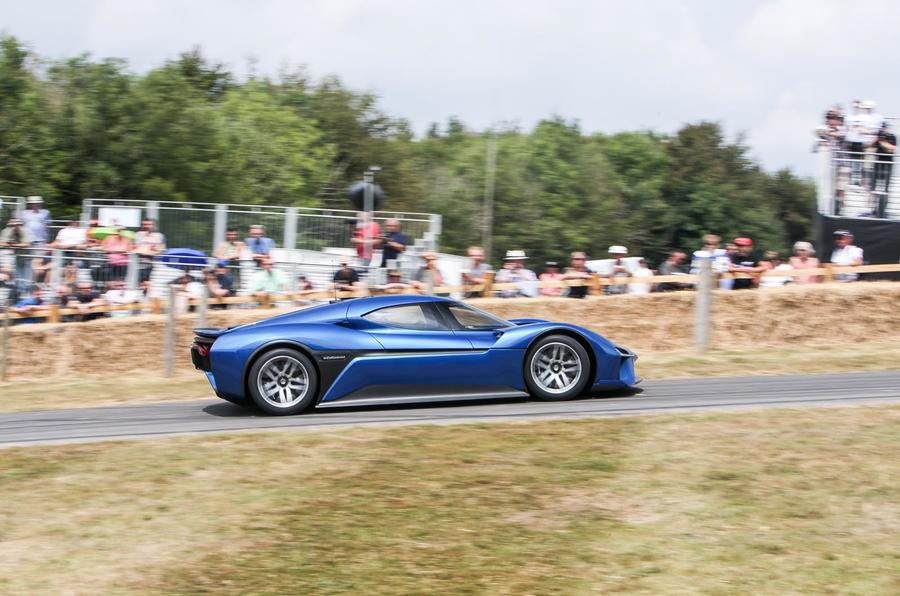 Nio EP9 Goodwood Festival of Speed hill climb circuit