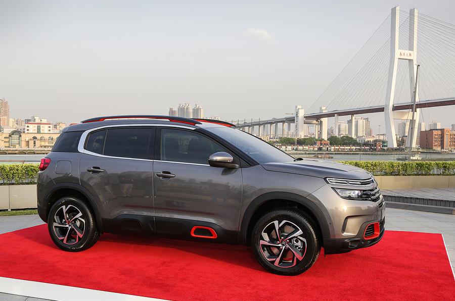 citroen c5 aircross revealed at shanghai motor show autocar. Black Bedroom Furniture Sets. Home Design Ideas