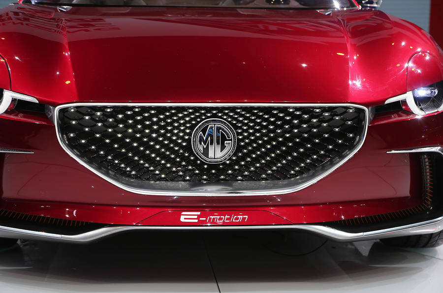 MG E-Motion EV sports car grille design