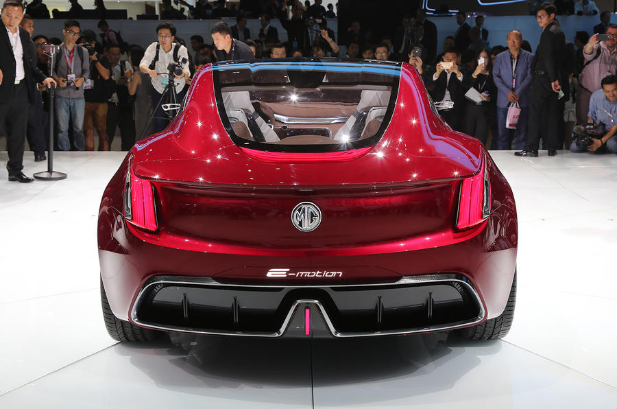 MG E-Motion EV sports car rear