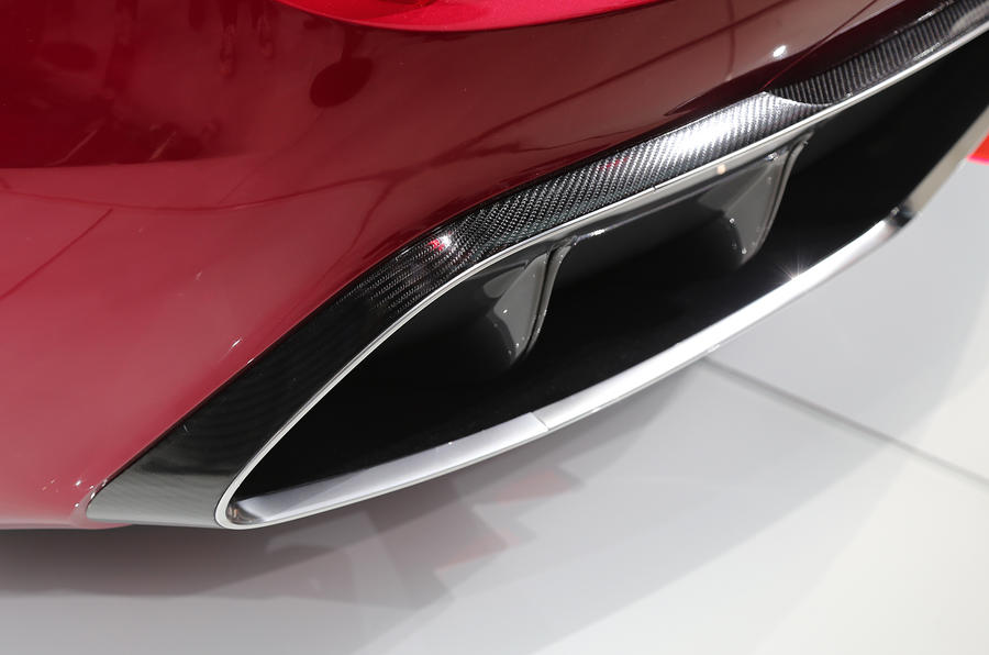 MG E-Motion EV rear diffuser