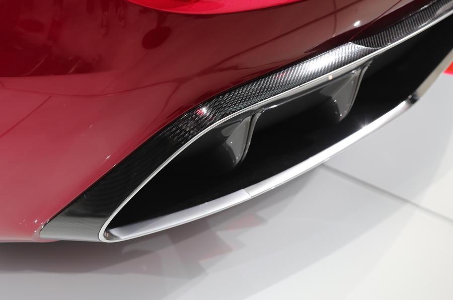 MG E-Motion EV rear diffuser