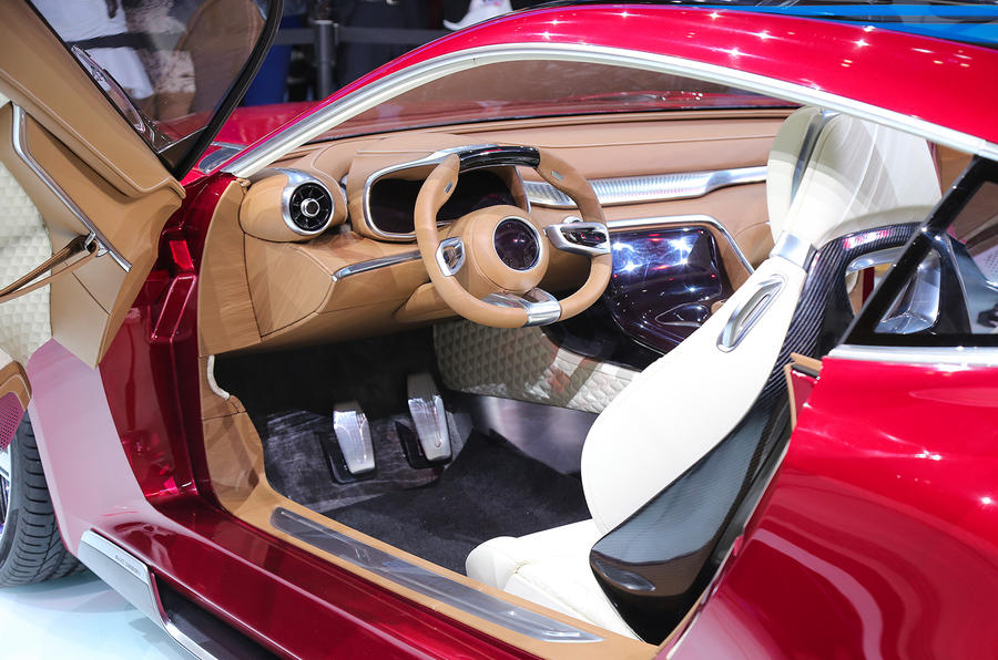 MG E-Motion EV sports car interior