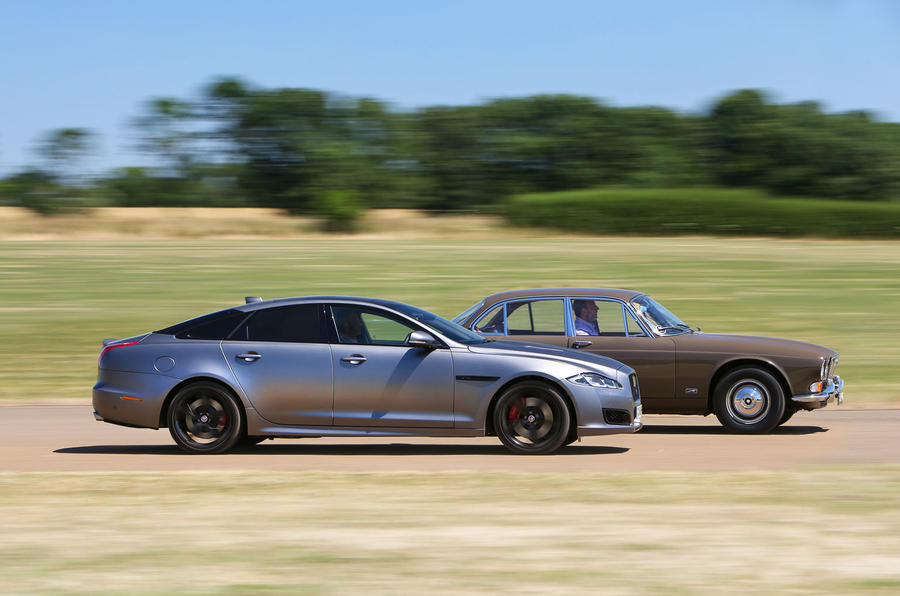 Jaguar XJ - current vs. original