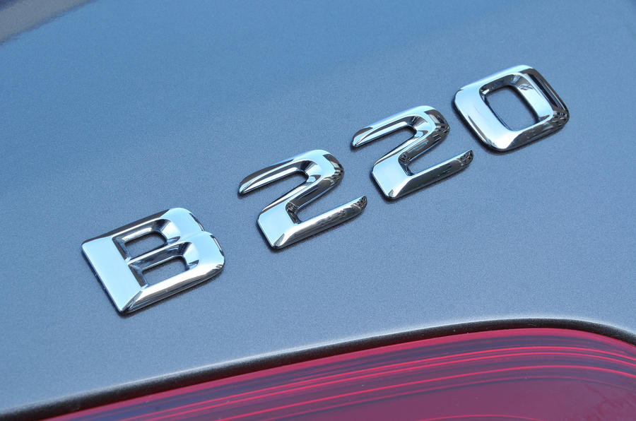 Mercedes-Benz B 220 badging
