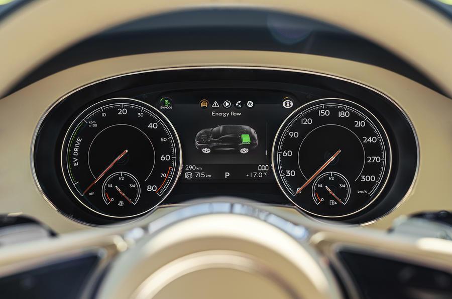 2019 Bentley Bentayga Hybrid - clocks