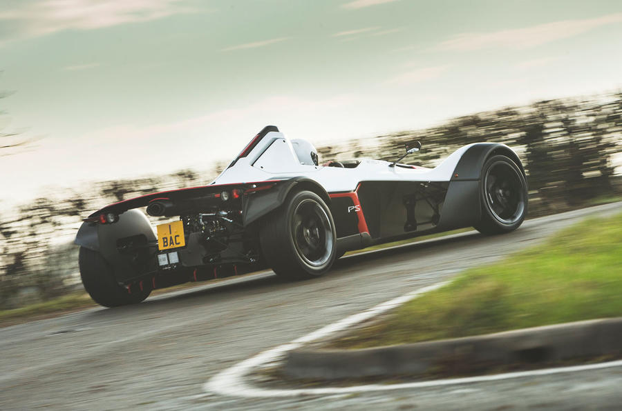 BAC Mono 2018 UK first drive review - cornering rear