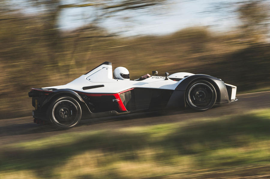 BAC Mono 2018 UK first drive review - on the road side