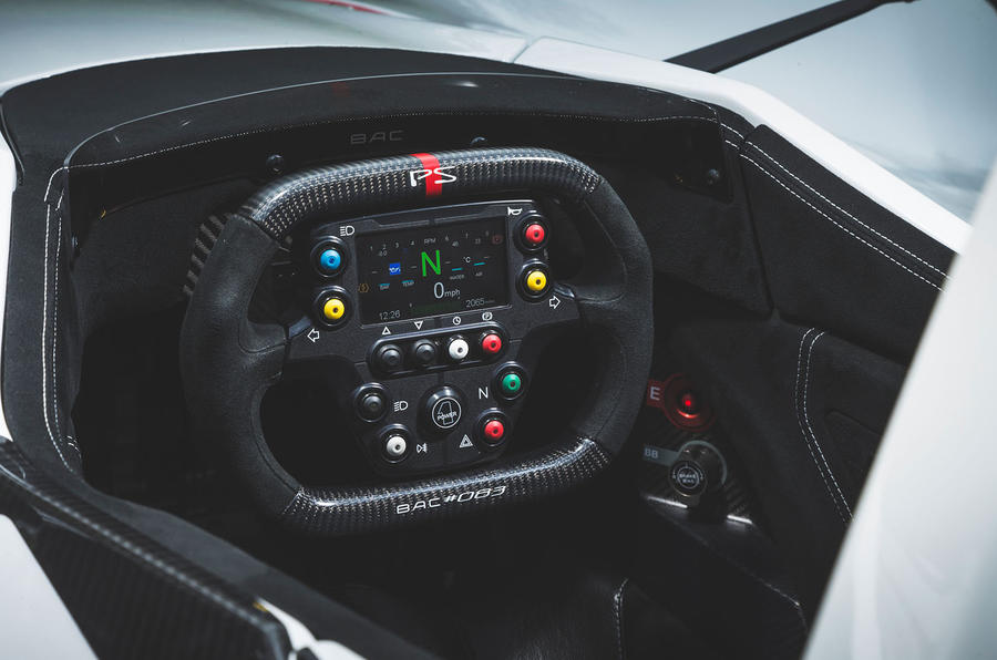 BAC Mono 2018 UK first drive review - steering wheel