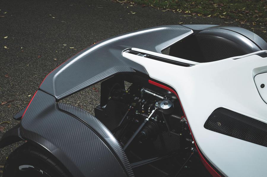 BAC Mono 2018 UK first drive review - rear spoiler