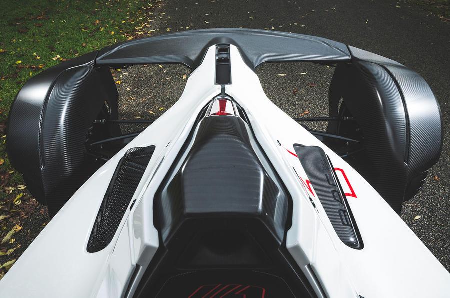 BAC Mono 2018 UK first drive review - rear top view