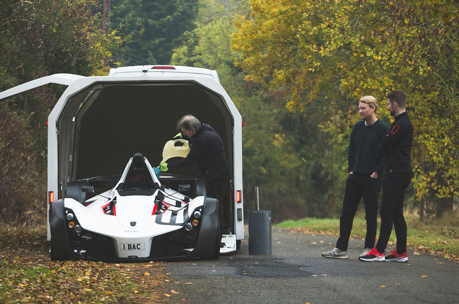 BAC Mono 2018 UK first drive review - unloading