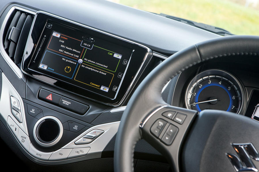 Suzuki Baleno 7in infotainment screen