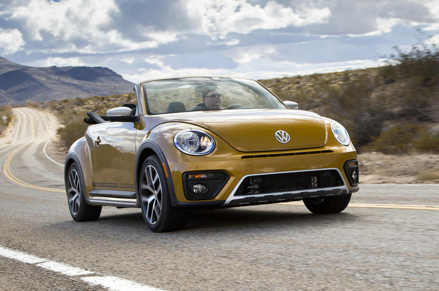 2016 volkswagen beetle dune 1 8 tsi cabriolet prototype review review autocar. Black Bedroom Furniture Sets. Home Design Ideas