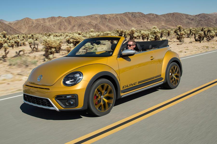 Volkswagen Beetle Dune on road
