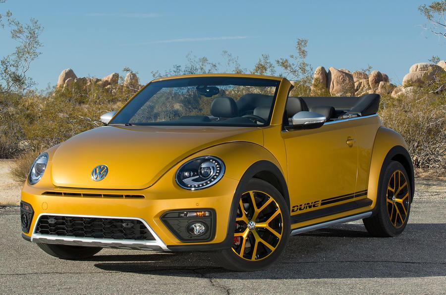 Volkswagen Beetle Dune parked up