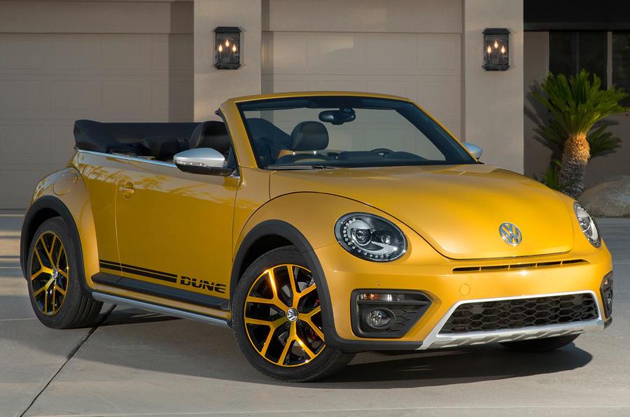 Volkswagen Beetle Dune in the garage