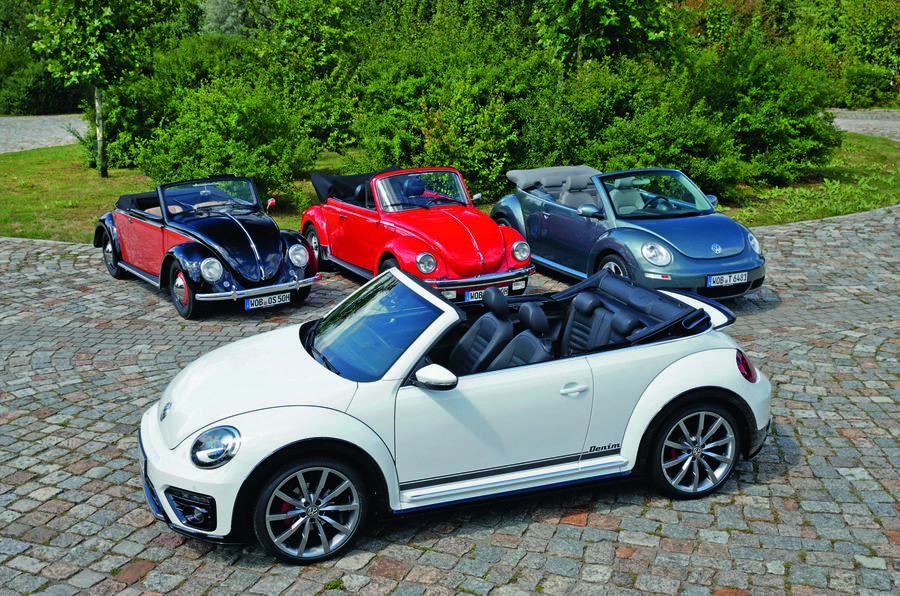 Volkswagen Beetle convertibles, old and new