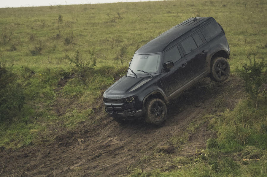 Land Rover Defender stars in new James Bond film stunts