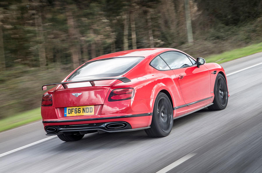 Bentley Continental Supersports rear quarter view