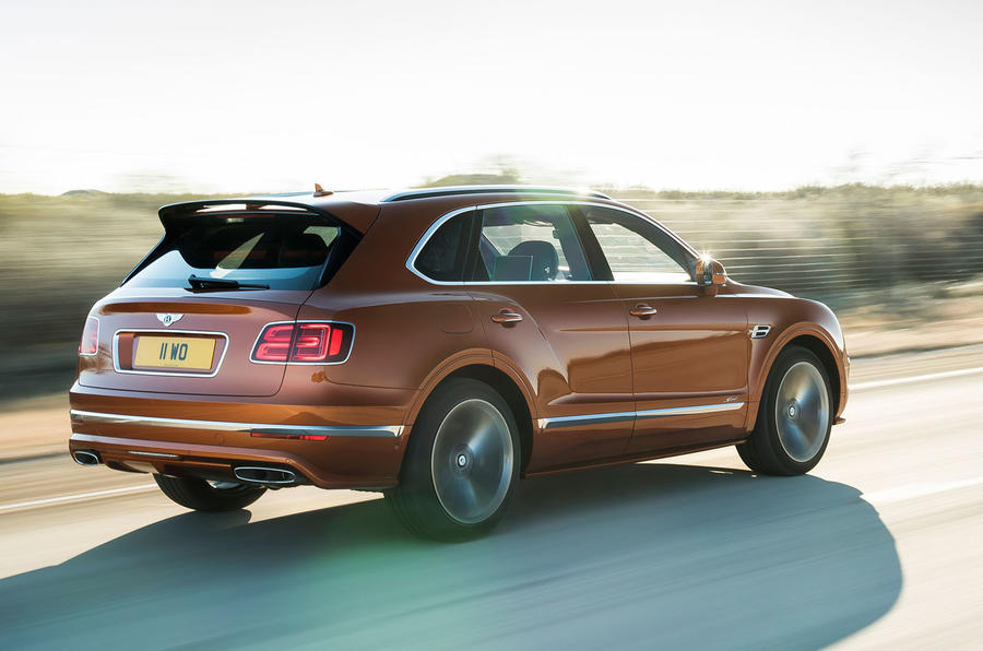 Bentley Bentayga Speed rear three quarters motion