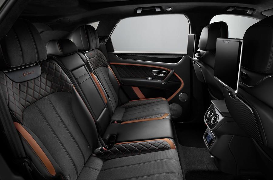 Bentley Bentayga Speed rear seats