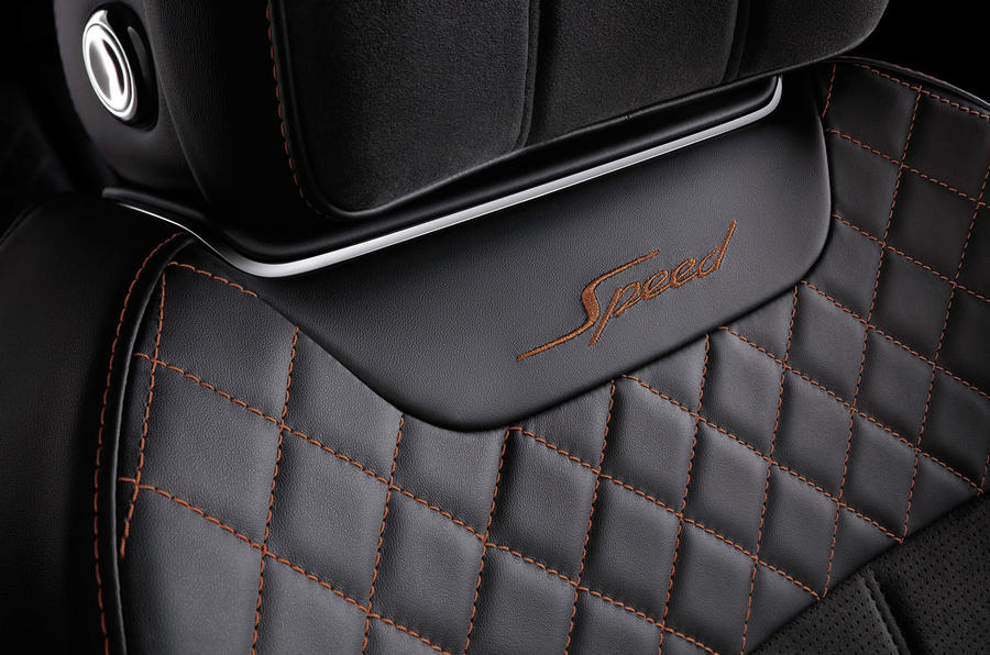 Bentley Bentayga Speed stitching