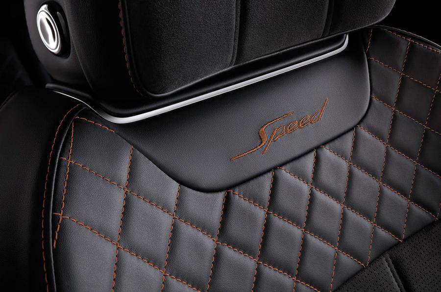 Bentley Bentayga Speed stitching