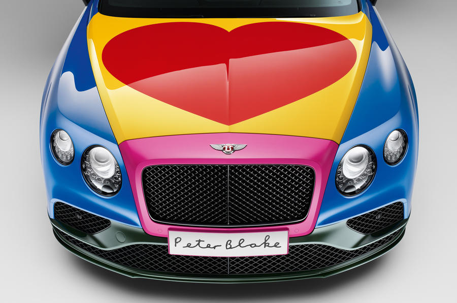Sir Peter Blake's Bentley Continental GT art car