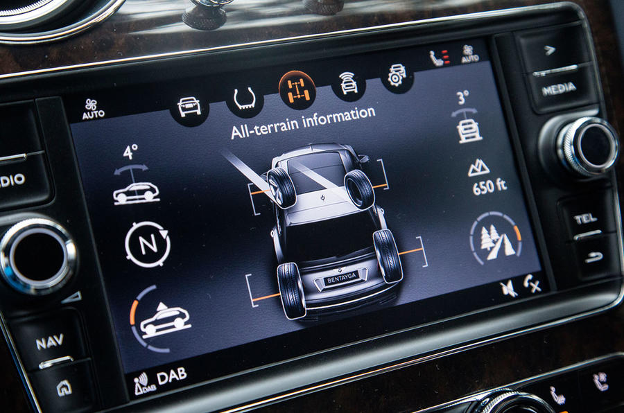 Bentley Bentayga Diesel infotainment