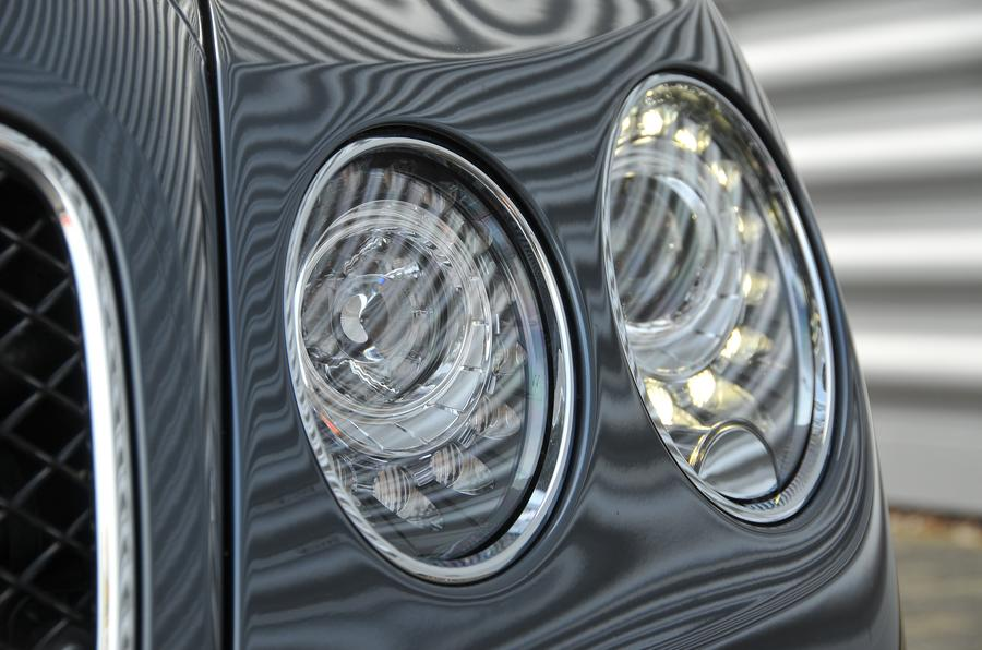 Bentley Flying Spur V8S headlights