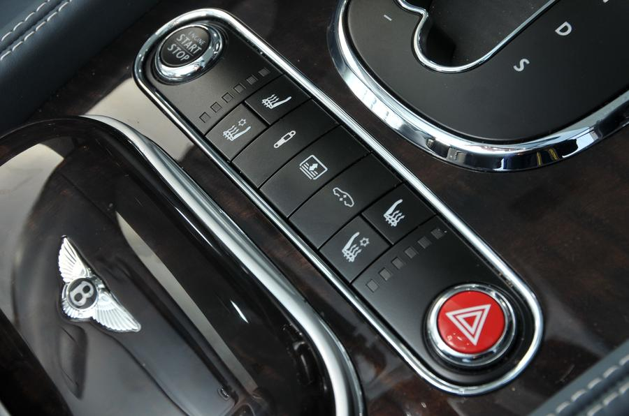 Bentley Flying Spur V8S ignition button