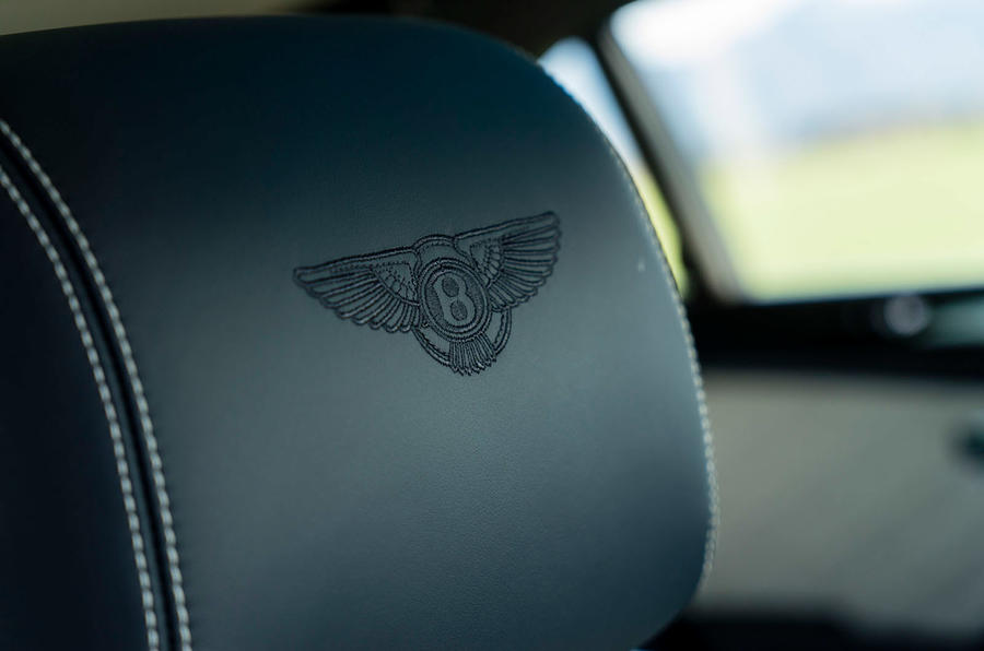 Bentley embossed seats