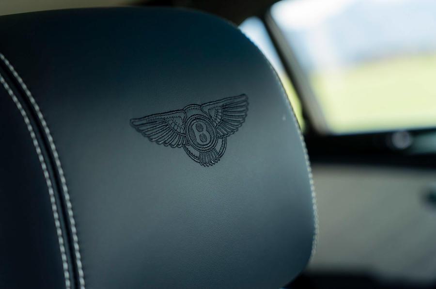 Bentley embossed seats