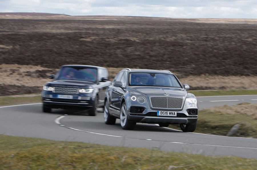 bentley bentayga vs range rover luxury suv comparison autocar. Black Bedroom Furniture Sets. Home Design Ideas